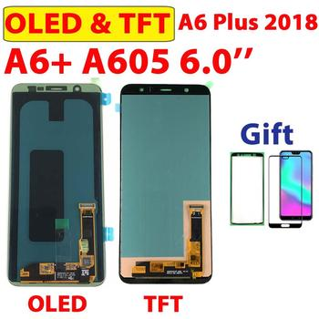 100% Test OLED A6+ For Samsung Galaxy A6 Plus Touch Screen LCD Display Digitizer For SAMSUNG A605F A605 Assembly A605fn TFT LCD