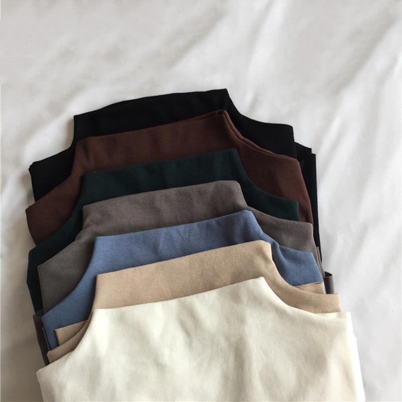 2019 Autumn Winter T Shirt Women Korea Style Half Sleeve T-shirt Cotton Slim Fit Women Tshirt Tee Shirt Femme White Beige Blue