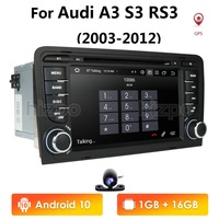 Monitor CAR GPS For Audi A3 S3 RS3 2003 2012 dvd player radio stereo IPS screen multimedia auto navigation Quad Core 1G Ram
