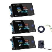 Medidor bonde do painel do monitor da c.a. de digitas com função da restauração medidor da energia do voltímetro do medidor da energia da alimentação da c.a. 50-300v 0-100a