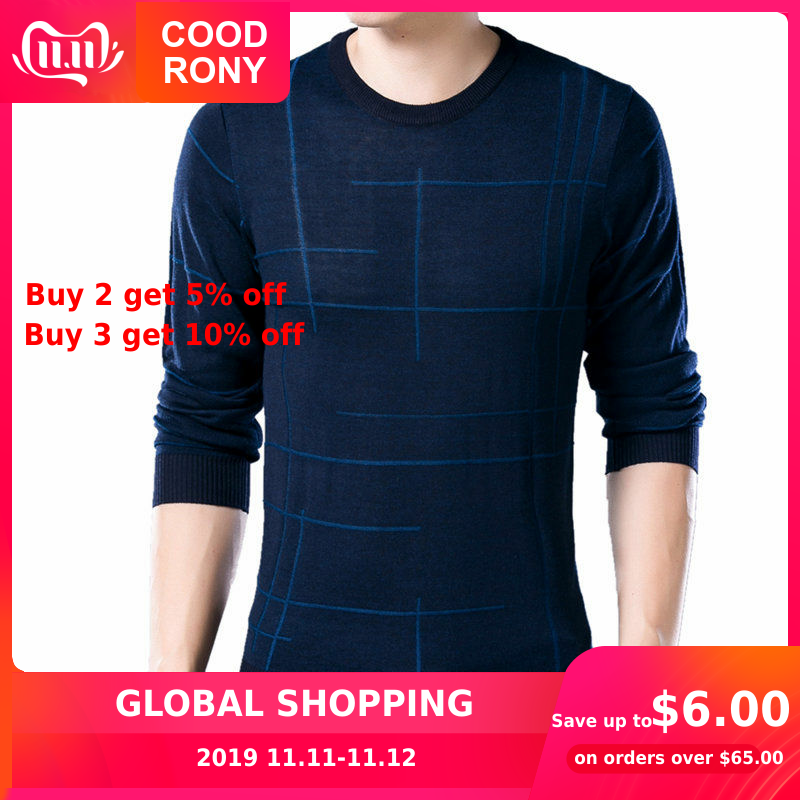 COODRONY Soft Cashmere Sweaters O-Neck Wool Pullovers 2019 Autumn Winter Warm Sweater Men Brand Clothing Plus Size Pull Homme 65