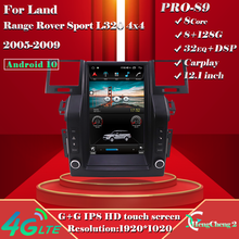 12.1 inches For 05-09 Land Rover Range Rover Sport L320 4X4 Smart Multimedia Video Player L320 Radio GPS Tesla Style Navigation