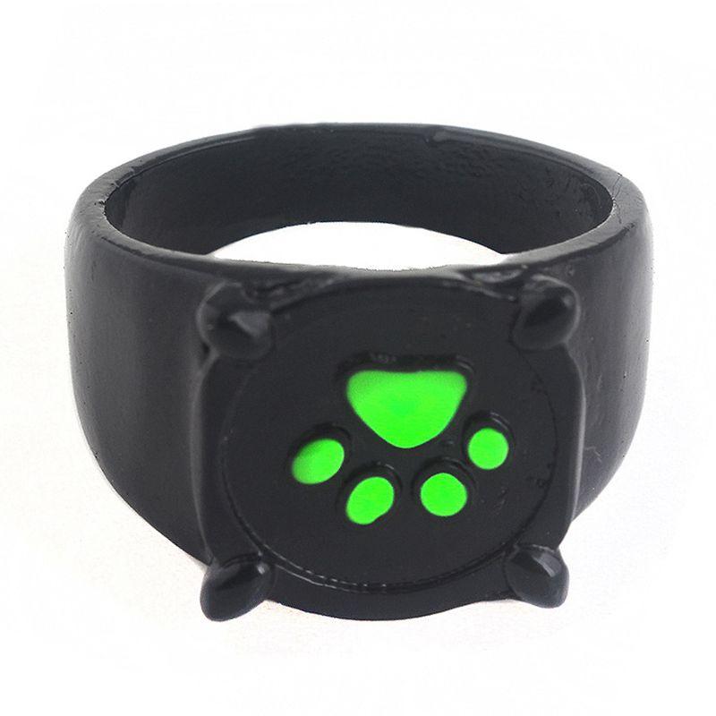 Кольца с мультяшным зеленым котом собакой когтями