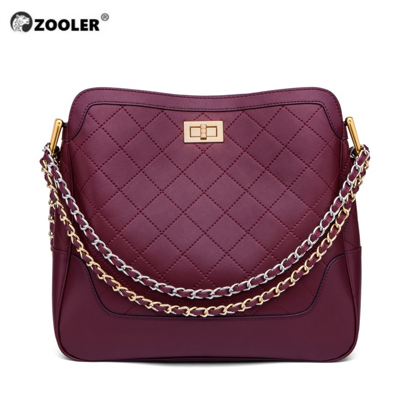 ZOOLER Soft Genuine Leather Women Handbags Fashion Girl Purses Cow leather Shoulder bags Two Sets Ladies Featured Brands#ZF228