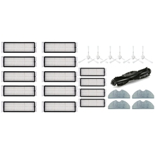 10 Uds reemplazo de filtro Hepa y 1 Conjunto de cepillo de rodillo filtro Hepa Filtro de paño de mopa reemplazo para 360 S5 S7 vacío piezas de limpiador