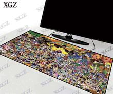 Большой игровой коврик для мыши xgz anime z клавиатуры с фиксирующимся