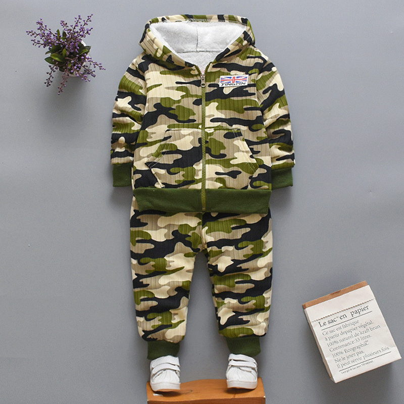 Kids Baby Boys Camouflag Letter Tracksuit Camouflage Tops Pants 2PCS Outfits Set