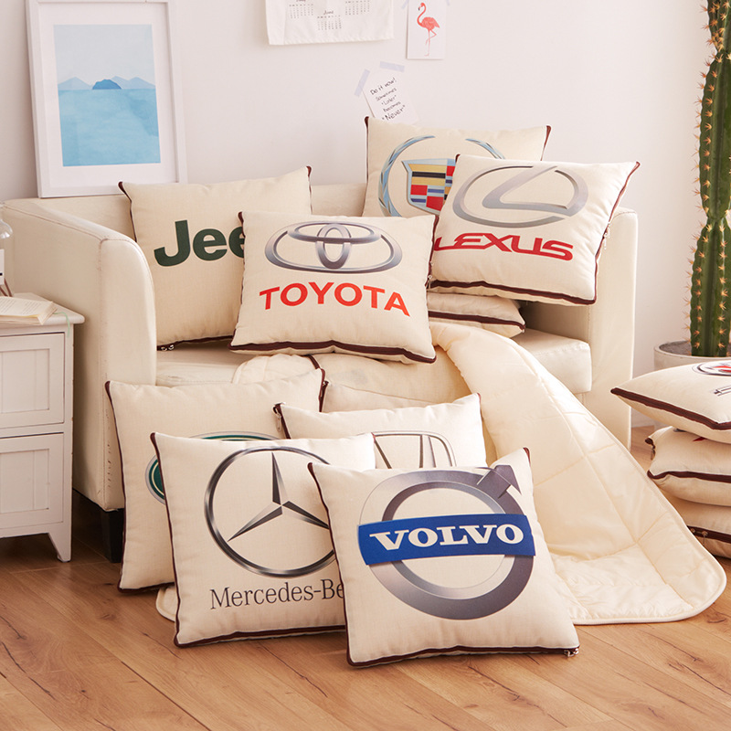 Quilt Waist-Cushion Car-Pillow Car-Headrest
