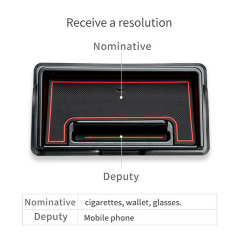 Car Inner Dashboard Storage Box For Suzuki Jimny 2019 Accessories Black /& Red