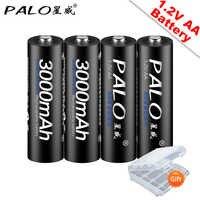 PALO 4 piezas AA baterías recargables 1,2 V AA 3000mAh Ni-MH batería recargable precargada 2A baterías para la cámara Juguetes