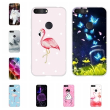 For Alcatel 1S 2019 Phone Case Ultra-slim Soft TPU Silicone 1s Cover Flamingo Patterned alcatel Bumper Funda
