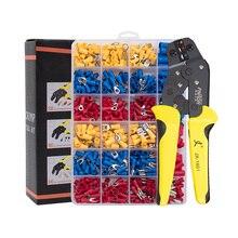 Paron Krimptang Wire Crimpers Wire Terminals Krimptang Geïsoleerde Ratel Crimper Kit 500Pcs Spade Connectors Tang