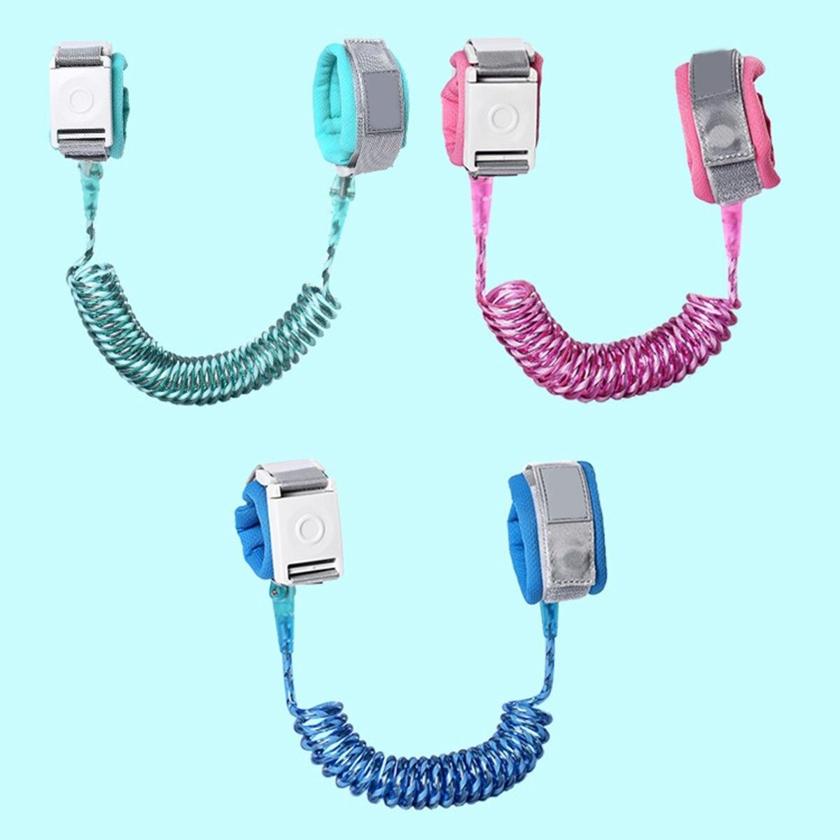 1.8M / 2.5M Anti-Lost Induction Lock Leash Safety Harness Strap Wrist Link Children Toddlers Walking Hand Belt