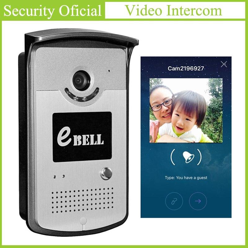 720P HD WiFi Video Doorbell Full Duplex Audio Night Vision Smart Video Intercom Support Onvif PIR Motion Detection Sending Alert