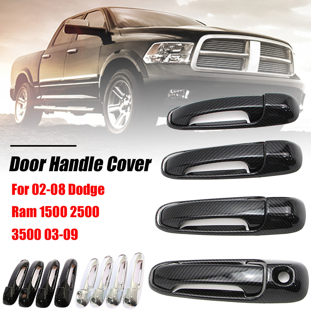 Dodge Ram 02-08 Chrome Door Handle Cover Chrome Tailgate 4 Door Keyhole