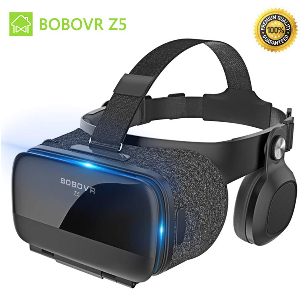 BOBOVR Z5 3D VR Glasses 2020 Virtual Reality Helmet Box With Headset Stereo For 4.7-6.2 inches smartphone +Bluetooth Controller