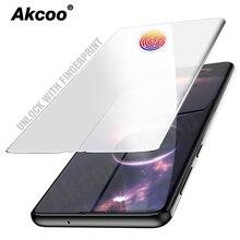 Akcoo S10 プラス強化ガラススクリーンプロテクター UV フル接着剤 fiim サムスン galaxy S6 7 エッジ S8 9 注 8 9 S10 スクリーンプロテクター