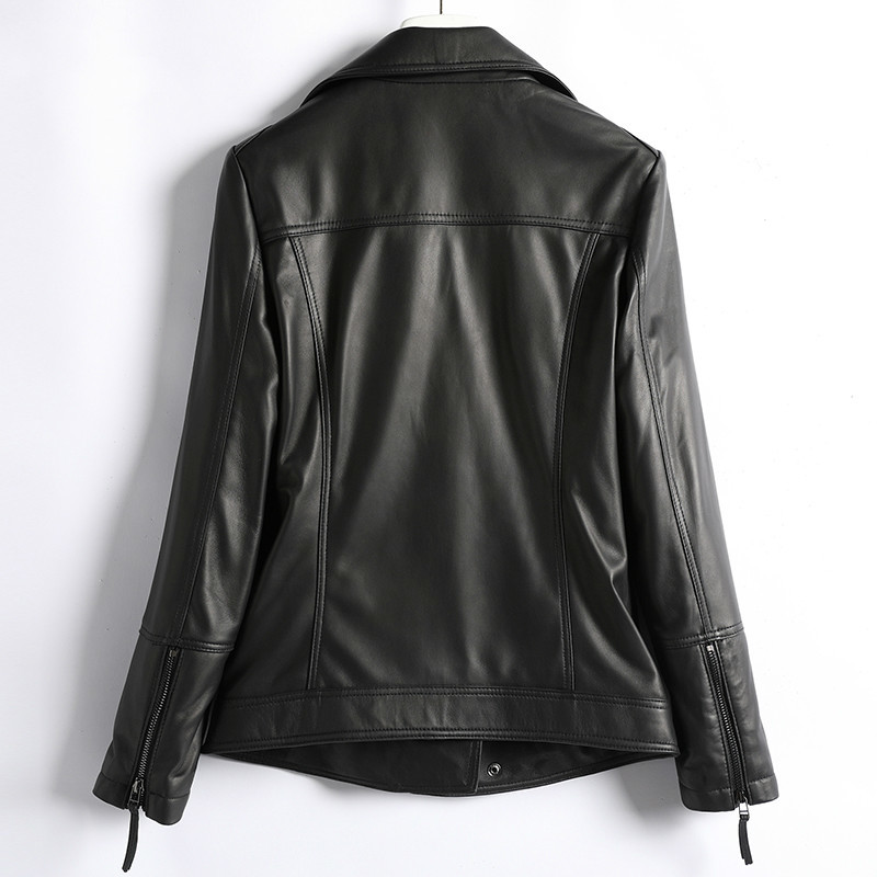 Winter Autumn Genuine Leather Jacket Women Clothes 2020 Korean Streetwear Real Sheepskin Coat Women Chaqueta Mujer D003