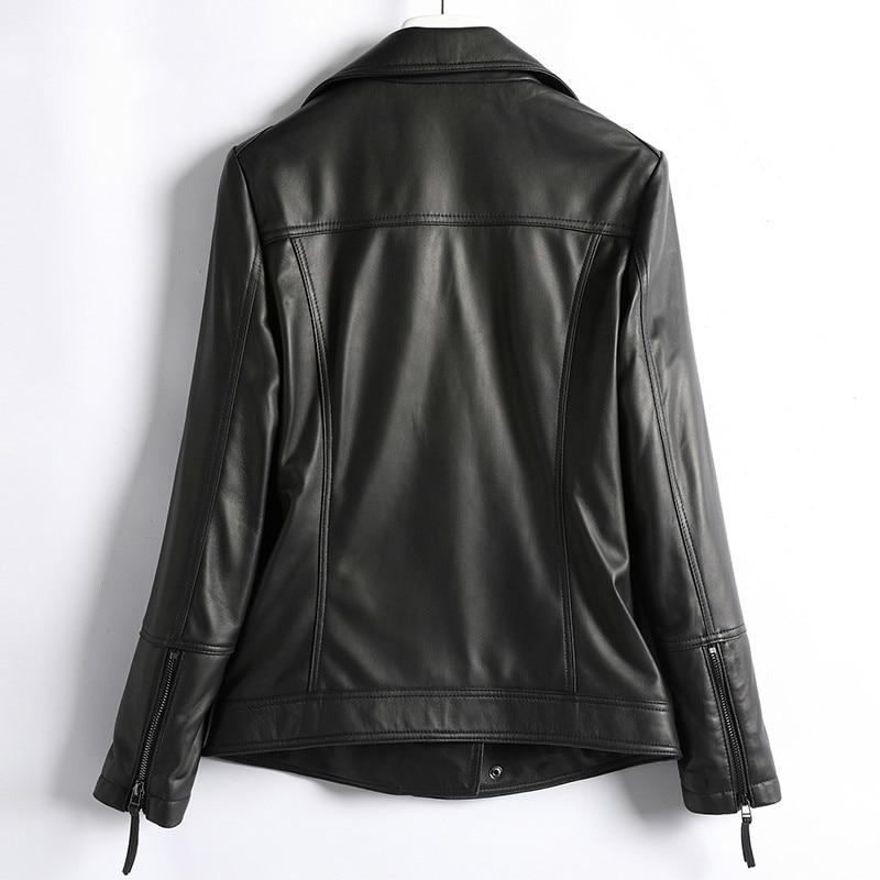 Winter Autumn Genuine Leather Jacket Women Clothes 2020 Korean Streetwear Real Sheepskin Coat Women Chaqueta Mujer D003