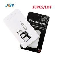 10 conjunto nano micro mini padrão kit adaptador de cartão sim conjunto adaptador ferramentas|Adaptadores de cartão SIM|Telefonia e Comunicação -