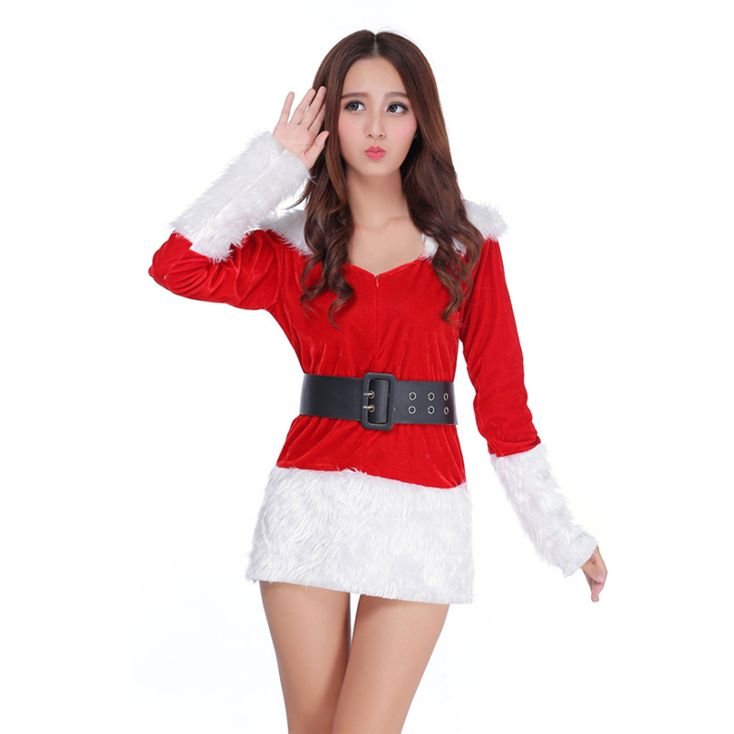 Women <font><b>Christmas</b></font> <font><b>Sexy</b></font> Lingerie Santa <font><b>Costume</b></font> Fancy Dress Xmas Party <font><b>Outfit</b></font> Babydoll Ropa Interior Femenina <font><b>Sexy</b></font> Erotica A50 image