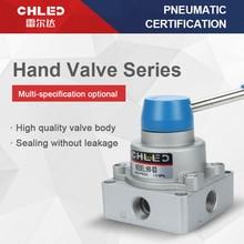 цена на Pneumatic valve  three-position four-way hand rotary valve Manual switch hand valve valve reversing control valve HV-02/03/04