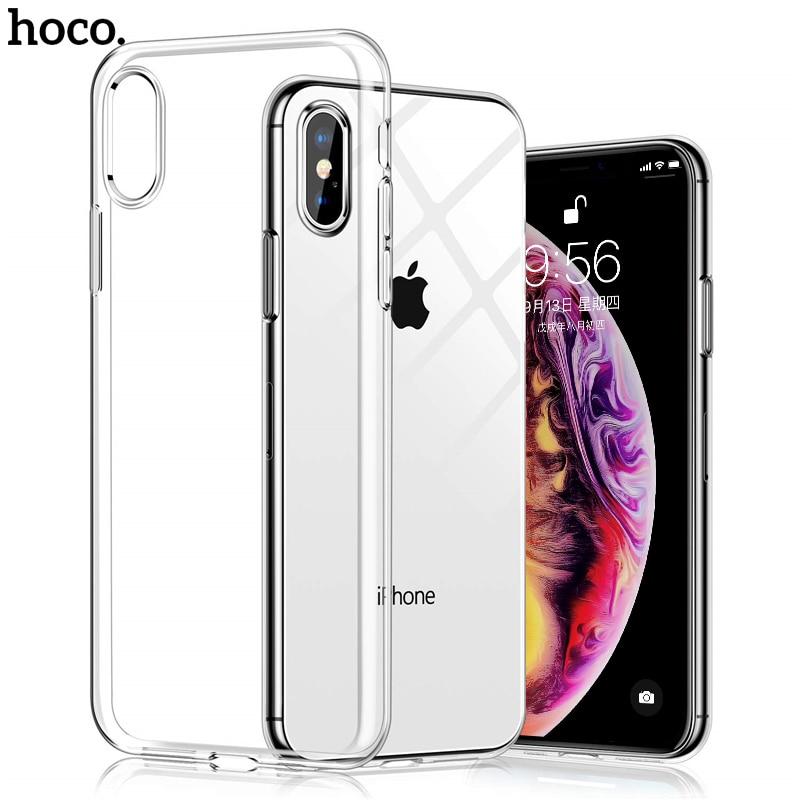 Hoco Doux Clair étui pour iphone X XR XS MAX Transparent étui en polyuréthane thermoplastique étui pour iphone 6 6s 7 8 Plus