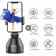 Smart AI Gimbal Personal Robot Cameraman 360 Rotation Face Tracking Mobile Phone Stand Work With Souing APP iOS 10.0 Android 8.1