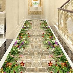 Modern Living Room Area Rug 3D Floral Road Decor Bedroom Rug Entrance Indoor Mat Kitchen Corridor Rug Carpets for Home Decor