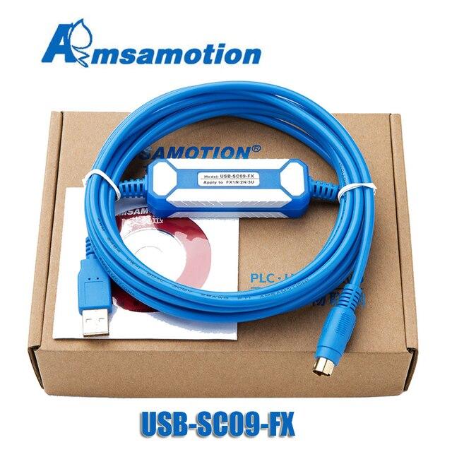 USB-SC09-FX для Mitsubishi PLC Кабель для программирования совместим FX-USB-AW иммунитетом FX2N/FX1N/FX0/FX0N/FX0S/FX1S/FX3U