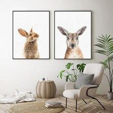 Настенная картина в виде кролика животное на холсте постеры