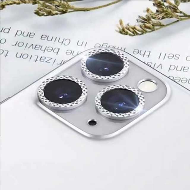 Diamond Camera Lens Protector For iPhone 12 Pro Max 12 Mini Camera Metal Ring Glass for iPhone 11 12pro max 12pro Protective Cap 4