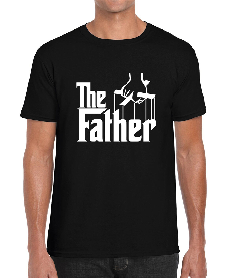 The Father Godfather Parody Movie Fathers Day Funny Gift Graphic T Shirt Custom Print Tee Shirt image
