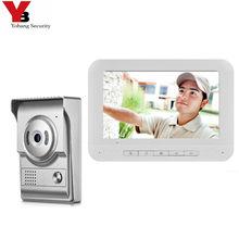 "Yobang Sicherheit 7 ""Farbe Monitor Sicherheit Türklingel Hause Familien Tür Access Control Video Intercom Sprech Tür Telefon Kits"