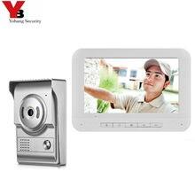 """Yobang güvenlik 7 """"renkli monitör güvenlik kapı zili ev aile kapı erişim kontrolü Video interkom interkom kapı telefonu kitleri"""