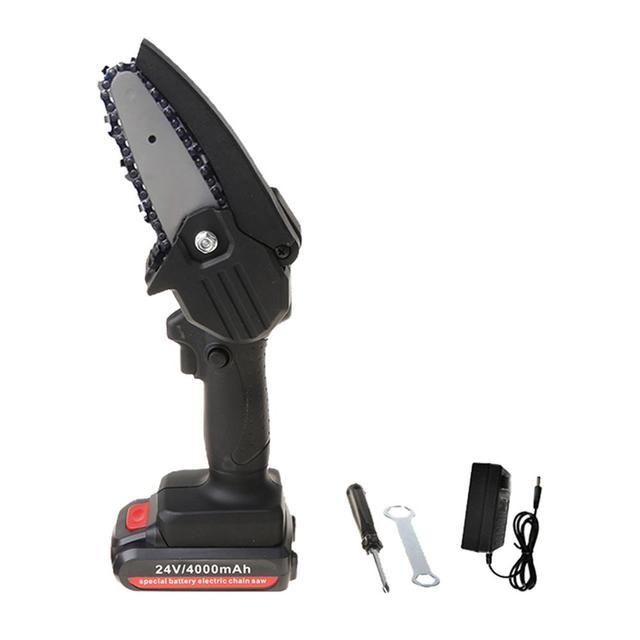 MZNTBW Sega Elettrica per Legno Potatura A Batteria Portatile Sega Elettrica A Mano Piccola Batteria al Litio Sega Elettrica da Giardino Regolabile 35V-1 Battery Mini Motosega da 5 Pollici