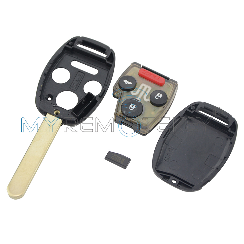 Honda anahtar panik ile Remtekey uzaktan anahtar 3 düğme - Araba Parçaları - Fotoğraf 2