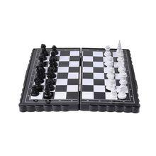 1 Набор Мини Переносные шахматы складной магнитный пластик шахматная доска игра детская игрушка 62KF