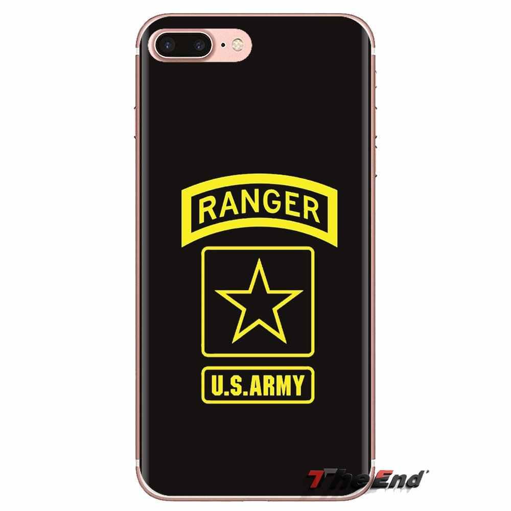 Trasparente Molle Della Cassa Della Pelle Per Huawei Compagno Honor 4C 5C 5X6X7 7A 7C 8 9 10 8C 8X20 Lite Pro Stati Uniti US Army Signal Corps
