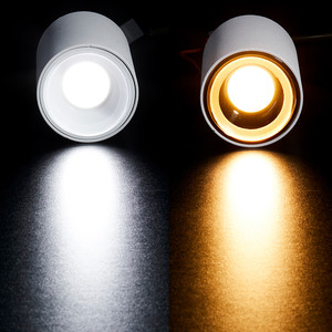 Image 3 - [DBF] גבוהה השתקפות משטח רכוב Downlight 15W 20W AC85 265V עגול LED תקרת ספוט אור לסלון חדר שינה מסדרון