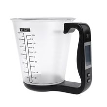 Digital Scale with Measuring Cup Thermometer Kitchen Scales Temperature Display