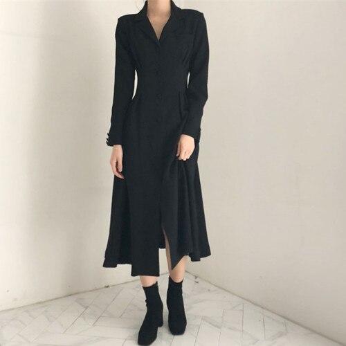 Nouvelle grande taille automne printemps Robe filles femme Vintage Robe à manches longues Oversize femmes robes chemise longue Boho Robe Vestido