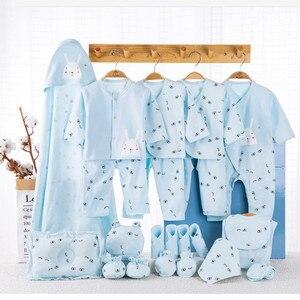 Image 3 - Ensemble de vêtements pour nouveau né, 19 pièces, en coton, vêtements pour bébés, filles et garçons, pour le printemps et lautomne