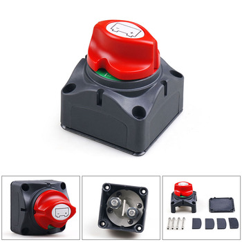 Car Auto 12V-60V 100A-300A RV Marine Boat Battery Selector Isolator Disconnect Rotary Switch Cut image