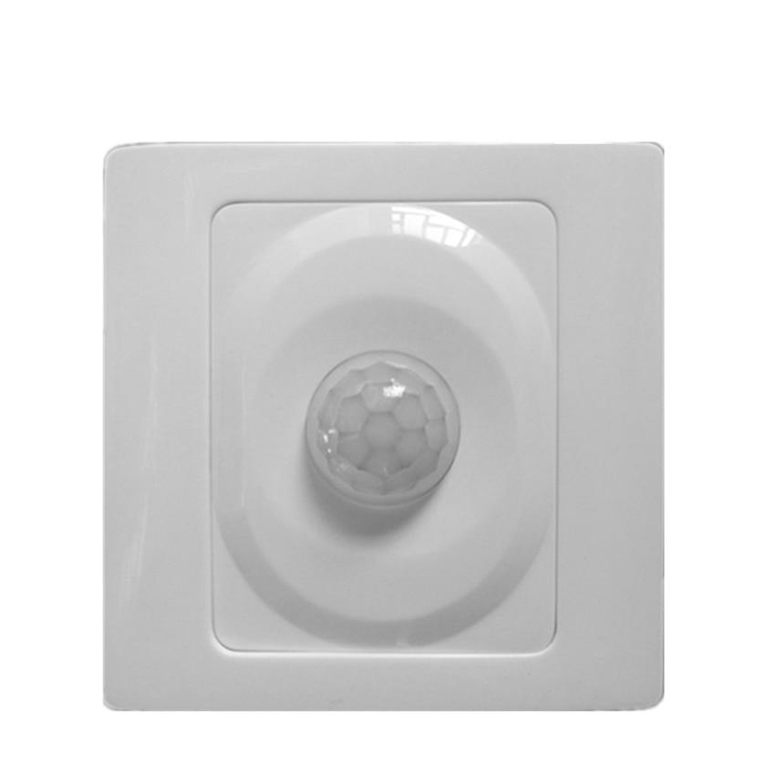 Weiß Motion Sensor Licht Schalter Drei-linie Flur Licht Schalter LED Verzögerung Automatische Induktion für Leuchtstofflampe, LED Licht