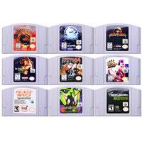 Игровая консоль с картриджем для видеоигр 64 Bit Game Fighting Games, английская версия для США для Nintendo