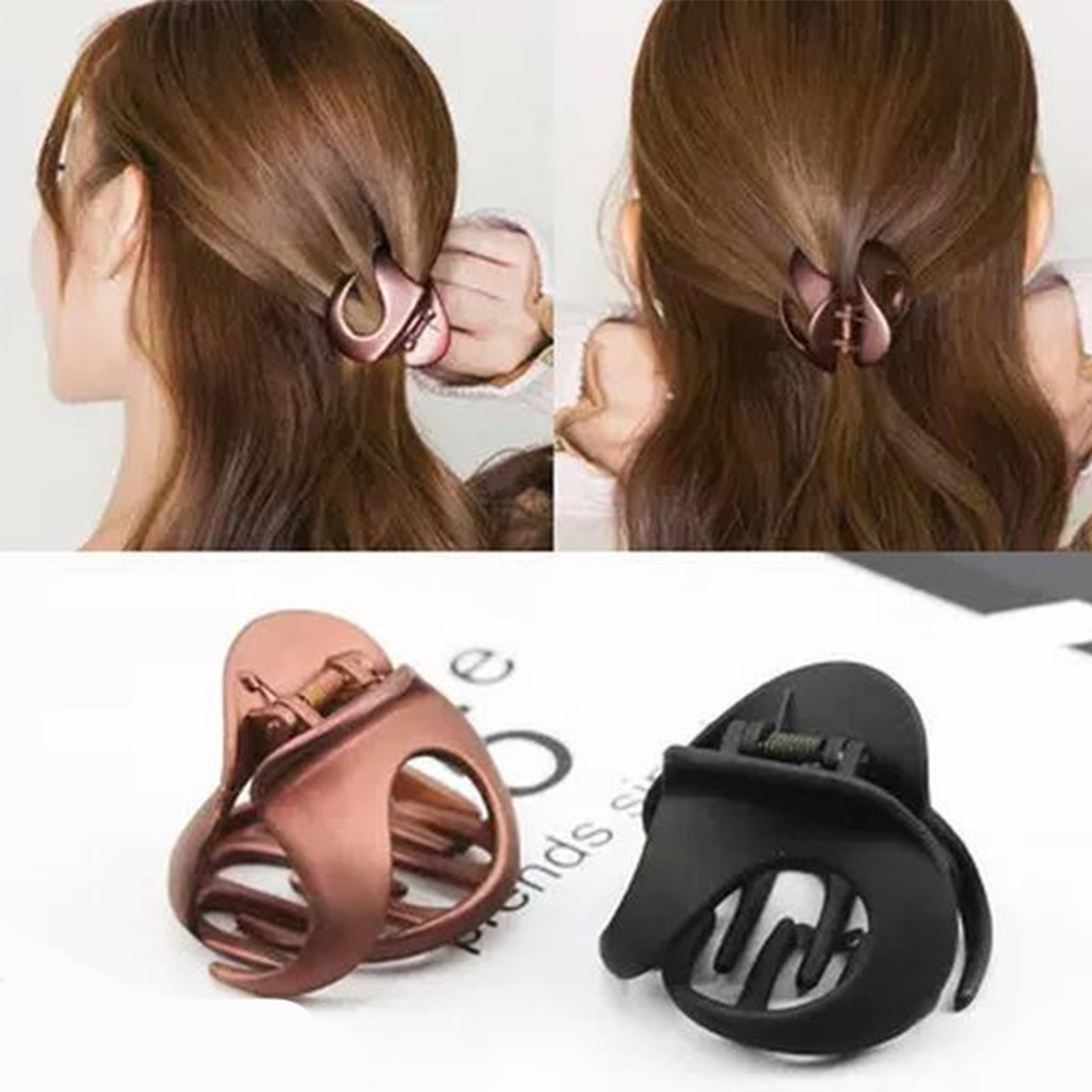 Fashion Matte Acrylic Hair Claw Clips Hollow Out Carving Crab Large Hair Clamps Makeup Bath Gripper Hair Accessories For Women