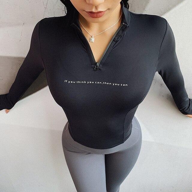 женские спортивные топы быстросохнущая рубашка с воротником фотография