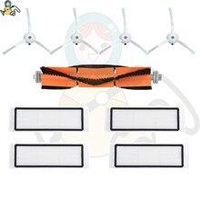 Hepa filtro esfregão panos escovas principais para xiaomi roborock s5 s6 s50 s55 s60 s65 mijia 1 s e25 e35 xiaowa aspirador de pó acessórios