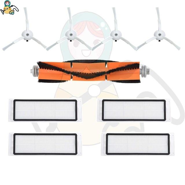 هيبا فلتر ممسحة الملابس فرش الرئيسي ل شاومي Roborock S5 S6 S50 S55 S60 S65 Mijia 1S E25 E35 xiaear مكنسة كهربائية الملحقات